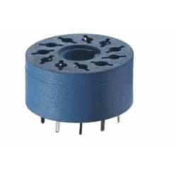 Gniazdo do przekaźników serii 60.12, 88.12 do płytki drukowanej (średnica 20,5mm)