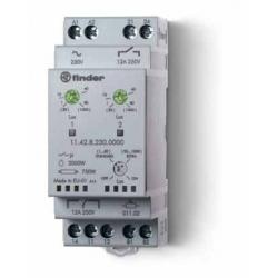 Wyłącznik zmierzchowy 2  zestyki przełączny i zwierny (1P+1Z 12A), 230V AC, niezależne wyjścia, 11.42.8.230.0000