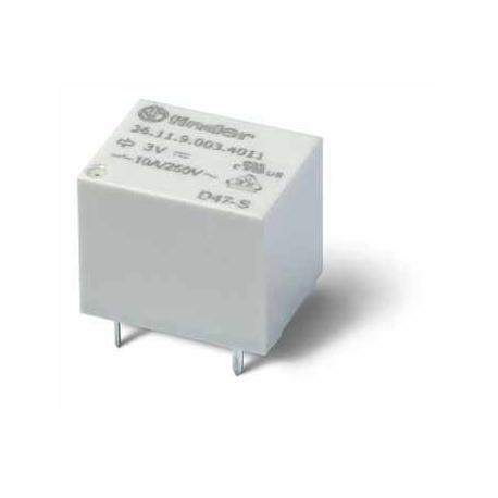 Miniaturowy przekaźnik do obwodów drukowanych 1Z 10A 24V DC styki AgSnO2, wykonanie szczelne RTIII