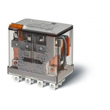 Przekaźnik 4P 12A 12V DC, przycisk testujący