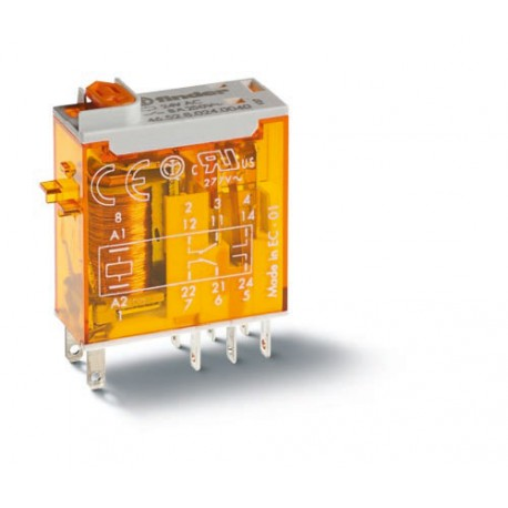 Przekaźnik 2P 8A 24V AC, LED