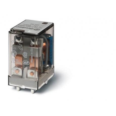 Przekaźnik 2P 12A 24V DC, do druku, styk AgCdO