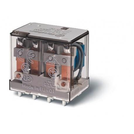 Przekaźnik 4P 12A 24V DC do druku, styk AgCdO