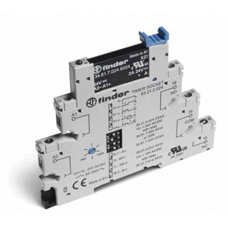 Czasowy moduł sprzęgający 1Z 2A 240V AC, ster. 24V AC/DC, Wielofunkcyjny AI, DI, GI, SW