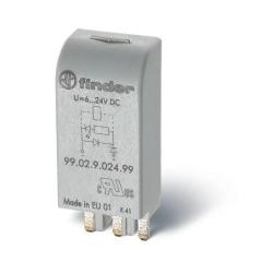 Moduł EMC, LED zielony+dioda 6...24VDC, polaryzacja A1+, 99.02.9.024.99
