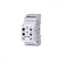 Przekaźnik czasowy wielofunkcyjny 230V AC, 24V DC 0s-20h REV-201M