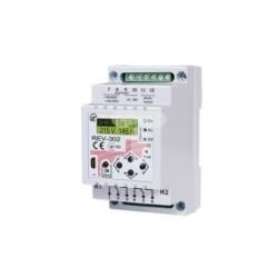 Zegar astronomiczny dwukanałowy z czujnikiem światła i kontrolą napięcia 90-420V AC / 100-300V DC REV-302