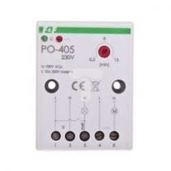 Przekaźnik czasowy 1Z 10A 1-15min 230V AC opóźnione odpadanie PO-405 230V