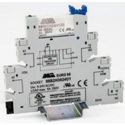 Przekaźnik interfejsowy 1CO, zasilanie 24V AC/DC - cewka 24VDC - zaciski sprężynowe