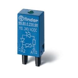 Moduł EMC, LED zielony+dioda 6...24VDC, polaryzacja A1+