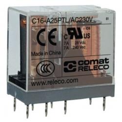 Przekaźnik 2P 7A 24V AC,  CMT-C16A25PTLAC24