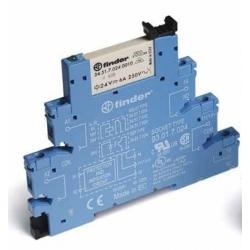 Przekaźnikowy moduł sprzęgający 1P 6A 24V AC/DC, Styk AgNi+Au