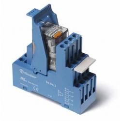 Przekaźnikowy moduł sprzęgający 27mm, 4P 7A 12VDC, styki AgNi,wskaźnik zadziałania mechaniczny, blokada zestyków, przycisk  test