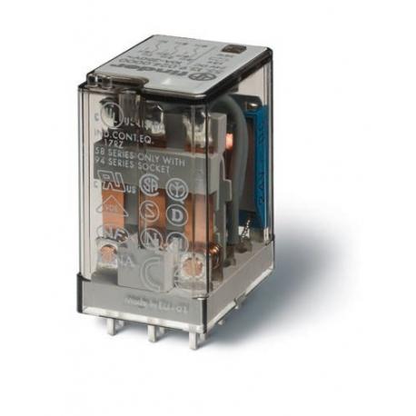 Przekaźnik 3P 10A 230V AC, do druku, styk AgCdO