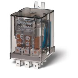 Przekaźnik 3P 10A 110V AC, Faston 187, adapter z mocowaniem tylnym, 60.63.8.110.0000