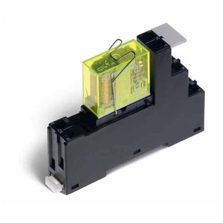 Przekaźnikowy moduł sprzęgający – Przekaźnik BEZPIECZEŃSTWA wg EN 50205 TYP B - 15,8mm ,2P  8A 60VDC, styki AgNi, zaciski śrubow