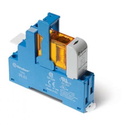 Przekaźnikowy moduł sprzęgający 15,8mm, 1P 10A 12VAC, styki AgNi, zaciski śrubowe, montaż na szynę DIN 35mm,