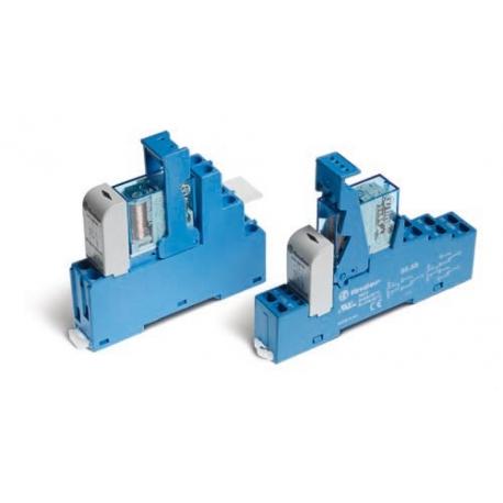 Przekaźnikowy moduł sprzęgający 15,8mm, 2P 10A 12VDC, styki AgNi, zaciski śrubowe, montaż na szynę DIN 35mm,