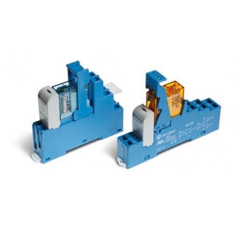 Przekaźnikowy moduł sprzęgający 15,8mm, 2P 8A 12VAC, styki AgNi, zaciski śrubowe, montaż na szynę DIN 35mm,