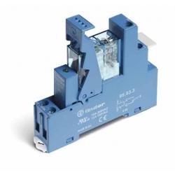 Przekaźnikowy moduł sprzęgający 15,5mm, 1P 10A 12VAC, styki AgNi, zaciski śrubowe, montaż na szynę DIN 35mm,