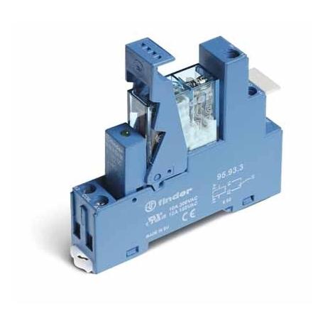 Przekaźnikowy moduł sprzęgający 15,5mm, 1P 10A 24VAC, styki AgNi, zaciski śrubowe, montaż na szynę DIN 35mm,
