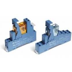 Przekaźnikowy moduł sprzęgający 15,5mm, 1P 16A 12VDC, styki AgCdO zaciski śrubowe, 49.61.7.012.0050