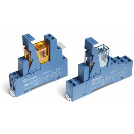 Przekaźnikowy moduł sprzęgający 15,5mm, 1P 16A 12VAC, styki AgCdO zaciski śrubowe, montaż na szynę DIN 35mm,