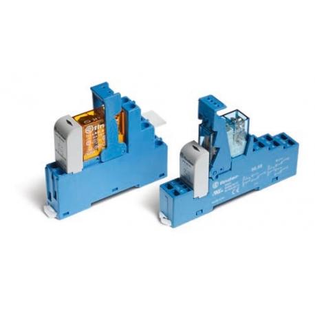 Przekaźnikowy moduł sprzęgający 15,8mm, 1P 16A 12VAC, styki AgCdO, zaciski śrubowe, montaż na szynę DIN 35mm,