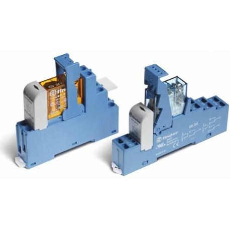 Przekaźnikowy moduł sprzęgający 15,8mm, 1P 10A 110VDC, styki AgCdO, zaciski śrubowe, montaż na szynę DIN 35mm,