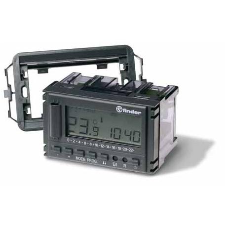 Termostat elektroniczny szary RAL7016,do zabudowy 3 modułowy (ramki typu VIMAR, BTcino, Gevis), nastawy przyciskami, programowan
