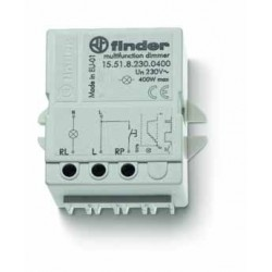 Elektroniczny przekaźnik impulsowy ze ściemniaczem, 400W 50Hz, do montażu w puszkę instalacyjną lub na panelu (50x49,5x22 mm)