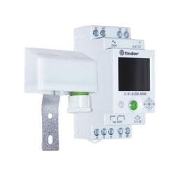 Wyłącznik zmierzchowy + wyłącznik czasowy 1 zestyk przełączny + wyjście pomocnicze dla 19.91 (1P  16A+1aux), obudowa modułowa (2