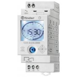 Programator tygodniowy/dobowy  elektroniczny, 1 zestyk przełączny (1P ), obudowa modułowa (35 mm),