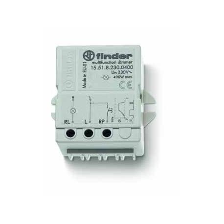 Elektroniczny przekaźnik impulsowy ze ściemniaczem, 400W 60Hz, do montażu w puszkę instalacyjną lub na panelu (50x49,5x22 mm)