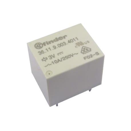 Przekaźnik 1C0 10 A 3 V DC styki AgSnO 2