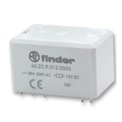 Przekaźnik 2NO 30 A 12 V DC, styki AgCdO 66.22.9.012.0600