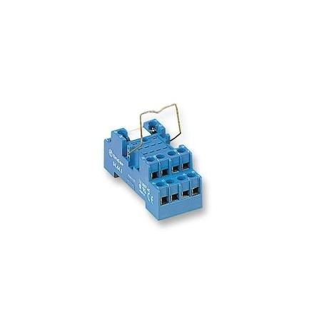 Gniazdo do serii 55.32/55.34/85.02/85.04,  modułów 99.01, zaciski śrubowe, montaż na szynę DIN 35mm, 94.74.0.000.0000