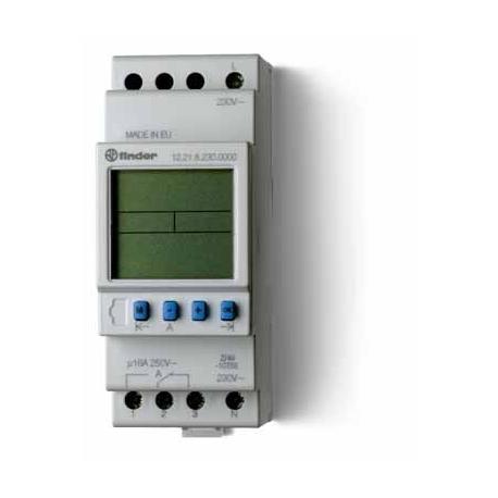 Programator tygodniowy elektroniczny 1P 16A 12V AC/DC