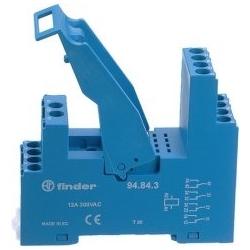Gniazdo do serii 55.32/85.02,  modułów 99.80, zaciski śrubowe, montaż na szynę DIN 35mm, (klip plastikowy)