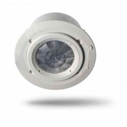 Czujnik ruchu 360°, 1 zestyk zwierny (1Z 10A) 230V AC, do montażu na suficie, wpuszczany w sufit podwieszany
