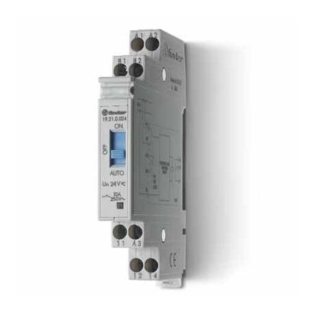 Przekaźnik modułowy/serwisowy auto-załącz–wyłącz 1P 10A 24V AC/DC, obudowa modułowa (11,2 mm)