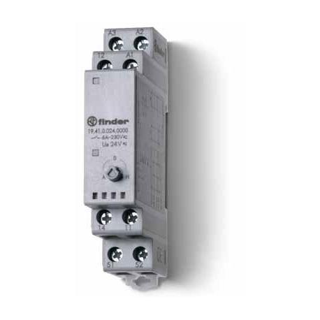 Przekaźnik serwisowy Auto/Off/Manualny, 1 zestyk przełączny (1P 5A) 1 zestyk zwrotny, 24V AC/DC, obudowa modułowa (1S 17,5 mm)