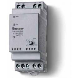 Przekaźnik serwisowy Auto/Off/zał. 1/ zał. 2, 2 zestyki zwierne (2Z 5A), 1 zestyk zwrotny, 24V AC/DC, 19.42.0.024.0000
