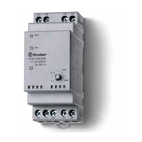 Przekaźnik serwisowy Auto/Off/zał. 1/ zał. 2, 2 zestyki zwierne (2Z 5A), 1 zestyk zwrotny, 24V AC/DC, obudowa modułowa (2S 35 mm