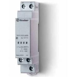 Przekaźnik mocy, 1 zestyk przełączny (1P 16A), 12V DC, 750-2000W w zależności od rodzaju obciążenia, obudowa modułowa (1S 17,5 m