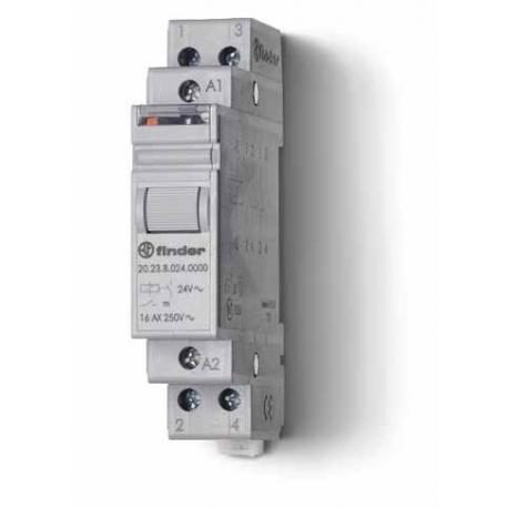 Przekaźnik impulsowy 1Z+1R 16A 12V AC, styk AgSnO2