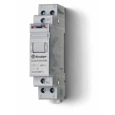 Przekaźnik impulsowy 2Z 16A 24V AC, styk AgSnO2