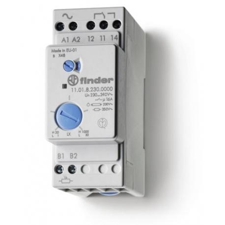 Wyłącznik zmierzchowy, 1 zestyk przełączny (1P 16A), 230V AC, obudowa modułowa (2S 35 mm) IP20 +czujnik zewnętrzny IP54, dwa zak