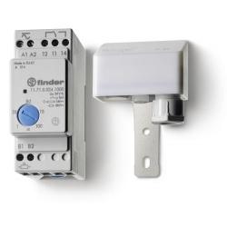 Wyłącznik zmierzchowy, 1 zestyk przełączny (1P 16A), 240V AC,  obudowa modułowa (2S 35 mm) IP20 +czujnik zewnętrzny IP54, 1-100