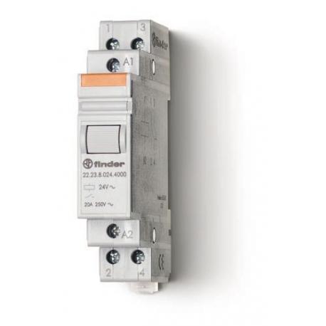 Przekaźnik modułowy mocy 1Z+1R 20A 24V DC, styk AgSnO2